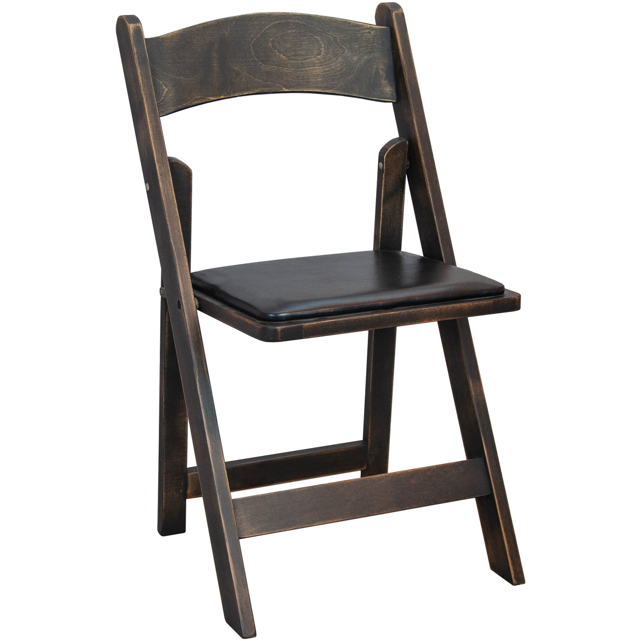 Padded Wood Folding Wedding Chair - Antique Black [WFC-AB] |  AdvantageChurchChairs.com - Padded Wood Folding Wedding Chair - Antique Black [WFC-AB