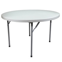 15-pack Advantage 6 ft. Round Plastic Folding Table [FTD72R-15] Seats 10 adults