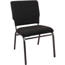 Advantage Black Multipurpose Church Chairs - 18.5 in. Wide [SEPCHT185-108]