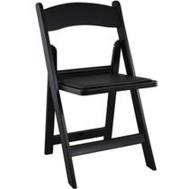 Advantage Black Resin Folding Chairs [RFWCA-101]