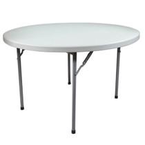 Advantage 6 ft. Round Plastic Folding Table [FTD72R] Seats 10 adults