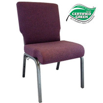 Advantage Grape / Amethyst Church Chair 20.5 in. Wide [PCHT-103]