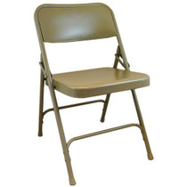 Advantage Beige Metal Folding Chair [DPI903M-BEIGE]