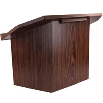 Advantage Mahogany Folding Wood Lectern [TT-Lectern-Walnut]