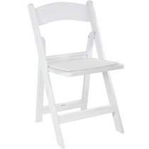 Advantage White Resin Folding Chairs [RFWCA-100]