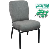 Advantage Signature Elite Charcoal Gray Church Chair [PCRCB-111] - 20 in. Wide