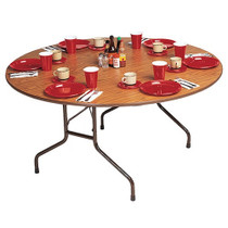 Correll CF48P 4-ft Round Folding Banquet Table