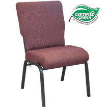 Advantage Black Cherry Church Chair 20.5 in. Wide [PCHT-116]