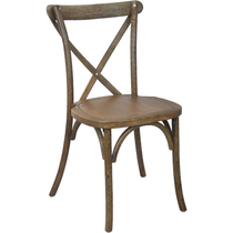 Advantage Hand Scraped Dark Natural X Back Chair [X Back DNAT