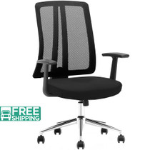 Advantage Black Mesh Office Chairs [X1-03A-5]