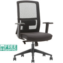 Advantage Black Mesh Office Chairs [X3-52BT-MF]