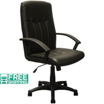 Advantage High Back Black Leather Executive Office Chair [KB-3001]