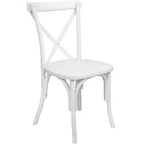 Advantage White Resin X-Back Chair [RESXB-White]