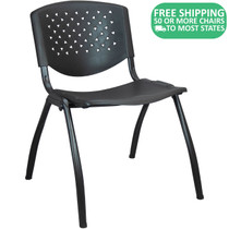 Advantage Black Plastic Stack Chair - Vented Back [ADV-SC-VENT]