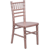 Advantage Kids Pink Wood Chiavari Chair [KID-WDCHI-RoseGold]