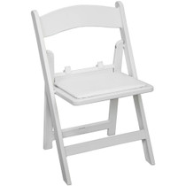 Advantage Kids White Resin Folding Chair [RFWCA-KID-100]