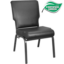 Advantage Black Vinyl Church Chair 20.5 in. Wide [PCHT-VINYL-108]