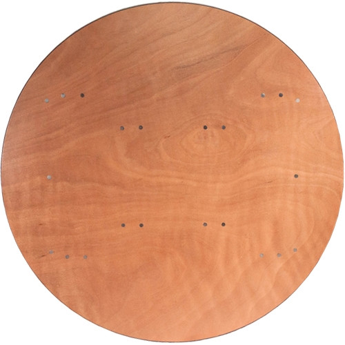 10 Pack 48 Inch 4 Ft Round Wood Folding Banquet Tables