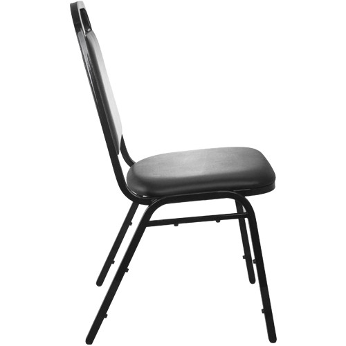 Advantage Black Vinyl Padded Banquet Stackable Chairs [827VINYL BB SB]
