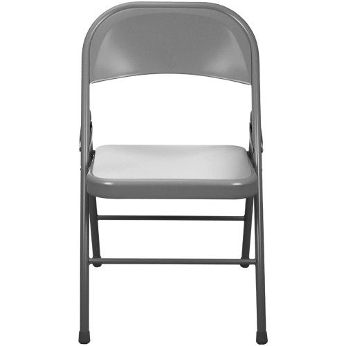 Beau Advantage Gray Metal Folding Chair [EDPI903M GREY]