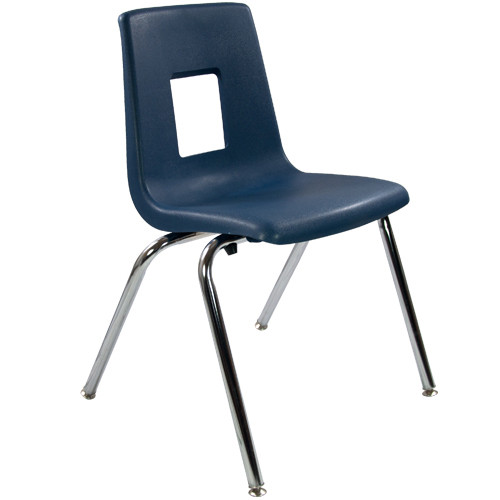 school chair. Plain Chair Advantage Navy Student Stack School Chair  18inch ADVSSC18NAVY Inside O