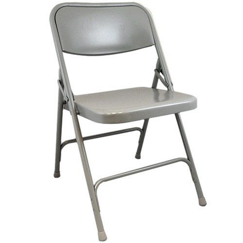 Advantage Dove Grey Metal Folding Chair [DPI903M-Grey]
