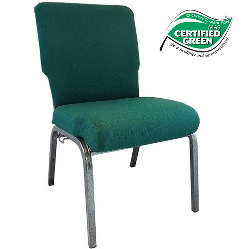 Advantage Hunter Green Church Chair 20.5 In. Wide [PCHT 102]