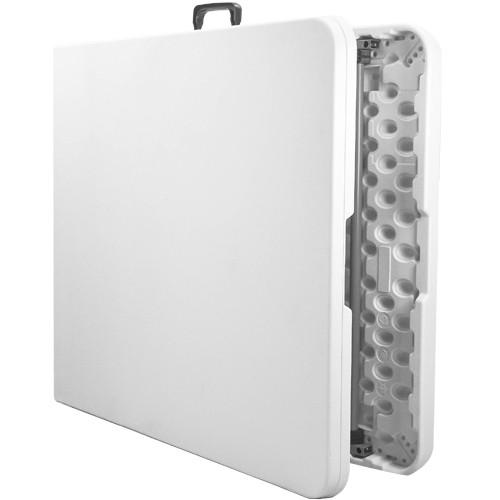 30x96 bifold rectangular white plastic folding table adv
