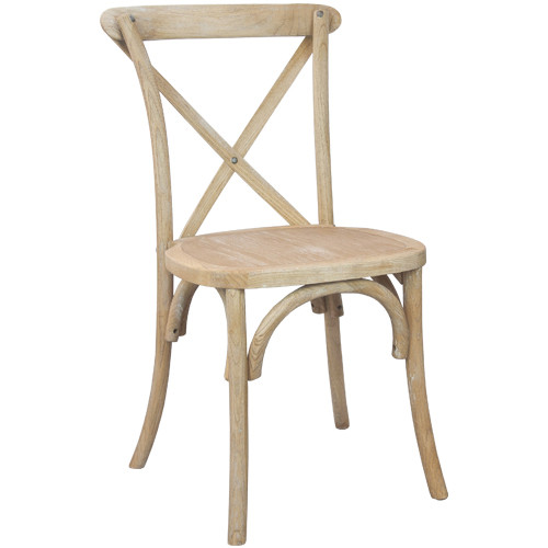 Beau Advantage Natural With White Grain X Back Chair [X Back NWG