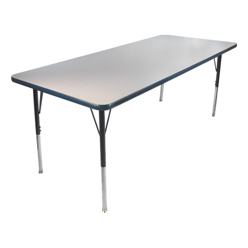 Advantage 30 in. x 48 in. Rectangular Adjustable Activity Table - Grey/Navy [AT3048-GN]