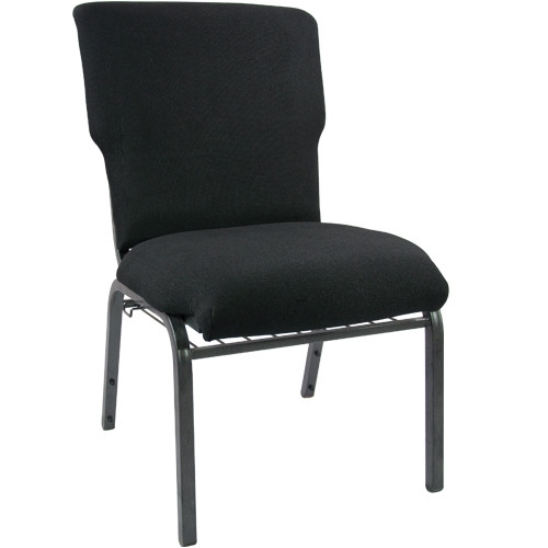 Advantage Black Discount Church Chair - 21 in. Wide [EPCHT-108]
