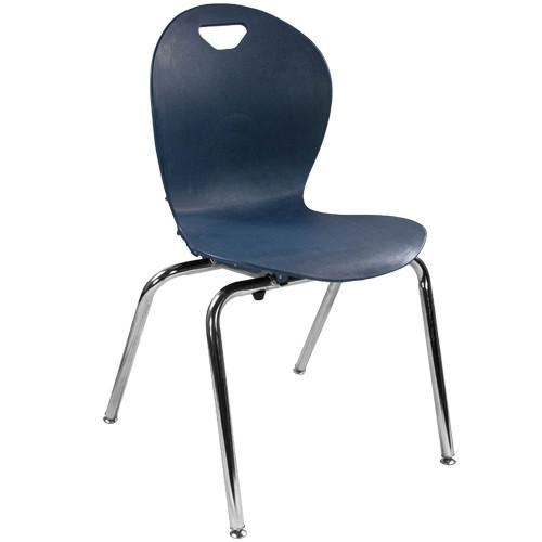 Advantage Titan Navy Student Stack School Chair - 18-inch [ADV-TITAN-18NAVY]