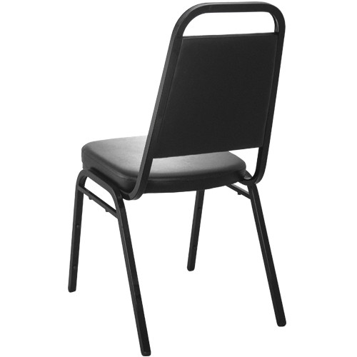 Charmant Advantage Black Vinyl Padded Banquet Stackable Chairs [627VINYL BB SB]
