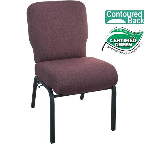 Good Advantage Signature Elite Black Cherry Church Chair [PCRCB 116]   20 In.