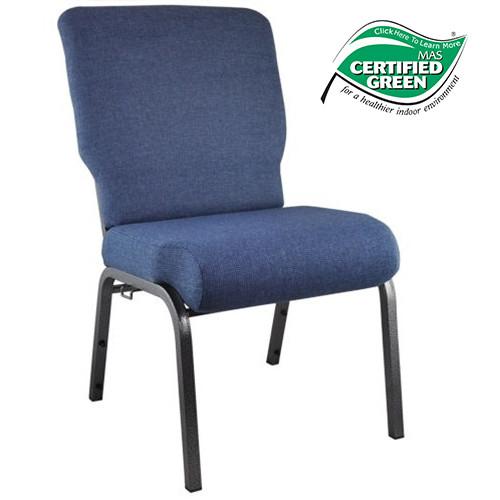 Advantage Blue Basket Weave Church Chair 20.5 in. Wide [PCHT-109]