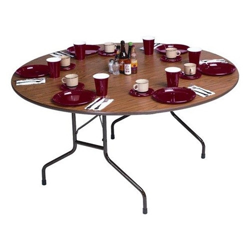 Correll CF48PX 4 Ft Round Folding Banquet Table