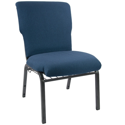 Advantage Navy Discount Church Chair   21 In. Wide [EPCHT 101]
