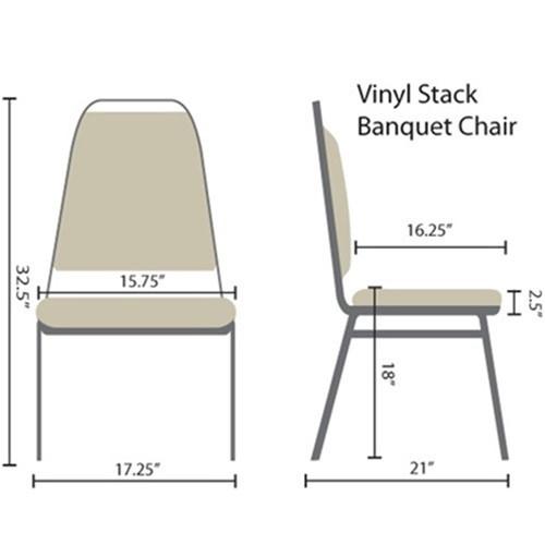 Advantage Burgundy Vinyl Padded Banquet Stackable Chairs [627VINYL BBURG SB]