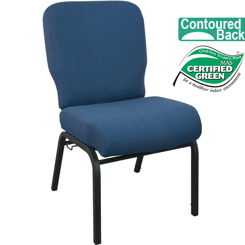 Advantage Signature Elite Navy Church Chair [PCRCB 101]   20 In. Wide