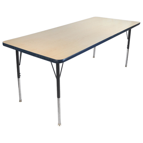 Ordinaire Rectangular Adjustable Activity Table   Maple/Navy