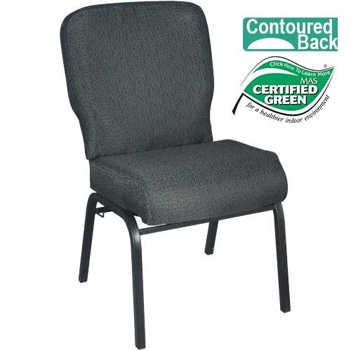 Delicieux Advantage Signature Elite Patterned Black Church Chair [PCRCB 121]   20 In.