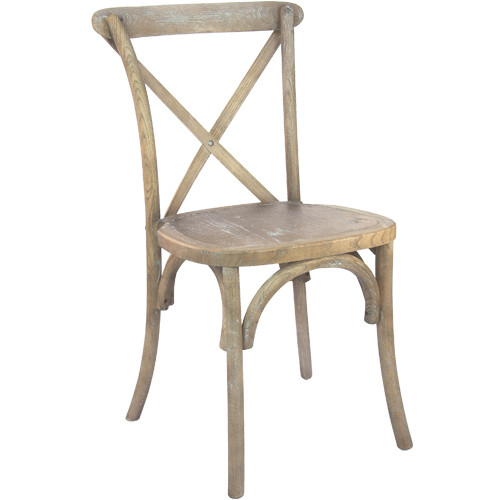 Advantage Medium Natural With White Grain X-Back Chair [X-back-MOWG-EC]