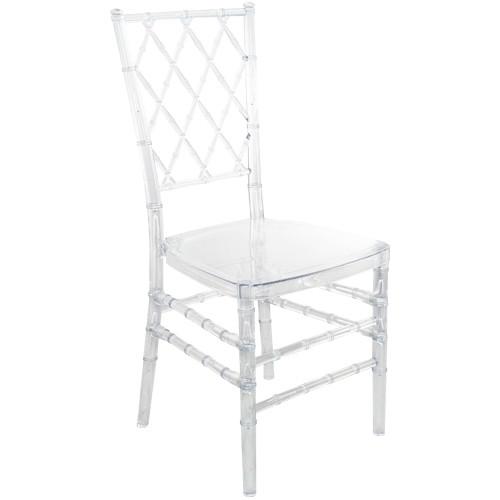 Beau Advantage Clear Diamond Resin Chiavari Chair [RSCHI CLR DMD]