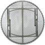 Advantage 6 ft. Round White Plastic Folding Table [ADV72R-WHITE] Seats 10 adults