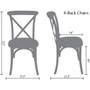 Advantage Walnut X-Back Chair [X-back-W-EC]