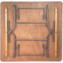 5-pack Advantage 4 ft. Square Wood Folding Banquet Table [FTPW-4848-05]