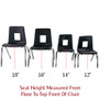 Advantage Black Student Stack School Chair - 12-inch [ADV-SSC-12BLK]