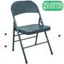 Advantage Slate Blue Metal Folding Chair [EDPI903M-NAVY]