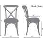Advantage Medium With White Grain X-Back Chair [X-back-MEDWHT-EC]