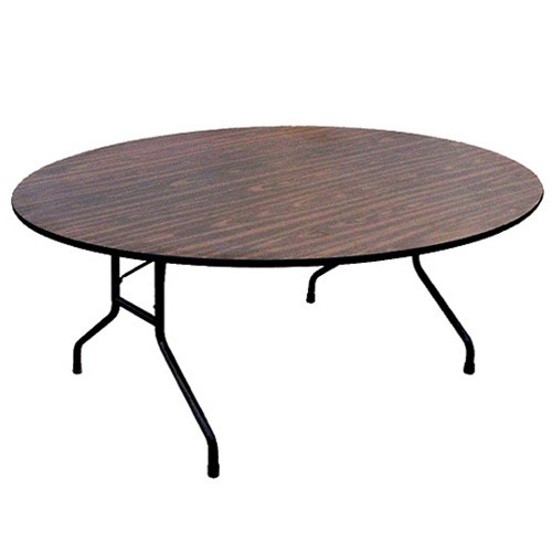 Round Chairs For Sale: Correll PC60P 5-ft Wood Round Folding Tables For Sale At